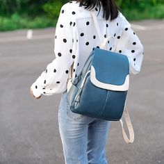 Women Backpack High Quality Patchwork Leather Backpacks for Teenage Girls School Shoulder Bag Anti Theft Bagpack mochila Outfit Accessories From Touchy Style. Shoulder Bags For School, School Bags For Girls, Girls Bags, Backpack Travel Bag, Backpack For Teens, Ladies Backpack, Small Backpack, Fashion Backpack, Girl Backpacks