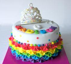 #rainbow #ruffle#cake from www.byjojo.co.uk