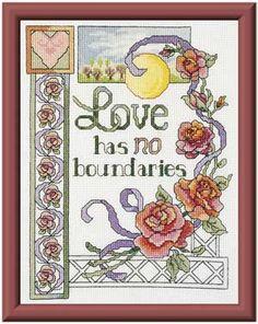 Inspiring Love, counted cross-stitch