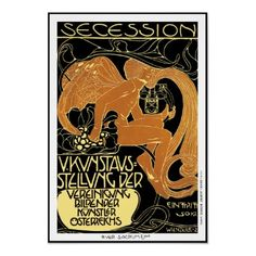 Moser Poster:  Vienna Secession Art Exhibition by VintageCabaret