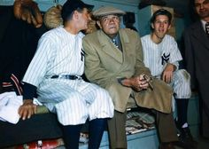 """Here, in color, Babe Ruth on """"Babe Ruth Day"""" at Yankee Stadium in 1947, a year before his death: pic.twitter.com/uuL6Nlt84u"""