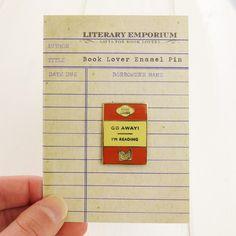 Book Lover Enamel Pin