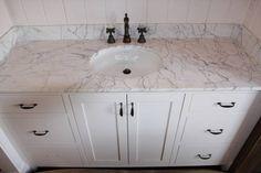 marble white vanity