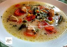 Tejszínes, tárkonyos csirkeragu leves | Edit56 receptje - Cookpad receptek Cheeseburger Chowder, Thai Red Curry, Soup, Ethnic Recipes, Hungary, Soups