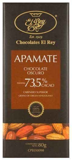 APAMATE® con 73,5% de cacao, es un Chocolate Oscuro 100% Natural. Tiene una suave sensación en boca, un prolongado sabor de cacao y una terminación a frutas secas en el paladar.