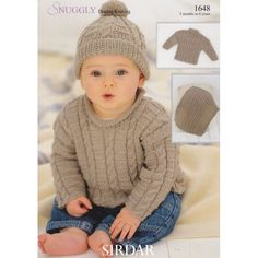 1648 Sirdar Snuggly DK, Boys Cabled Sweater, Hat and Blanket, Knitting Pattern - Yarns with Alice