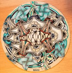 Miimis zendala Mother Daughter Tattoos, Tattoos For Daughters, Doodle Patterns, Zentangle Patterns, Psychadelic Art, Doodles Zentangles, Zen Doodle, Mandala Design, Crayons