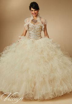 Vizcaya 89046 Ruffled Quinceanera Dress