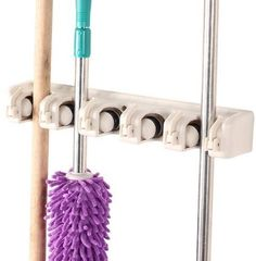 Kitchsmart  Multipurpose Wall Mounted Organizer Ideal for hanging MOPS BROOMS TOOLS SPORT EQUIPMENTS The best Garage Organizer System White -- You can get more details by clicking on the image.-It is an affiliate link to Amazon. #KitchenUtensils