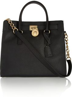 $360, MICHAEL Michael Kors Michl Michl Kors Hamilton Large Textured Leather Tote. Sold by NET-A-PORTER.COM. Click for more info: https://lookastic.com/women/shop_items/327448/redirect