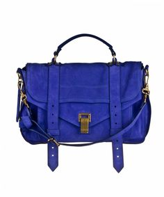 I don't have a suede one....yet.    Cobalt Blue Proenza Schouler PS1