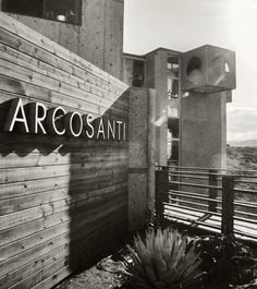 Arcosanti- a highly unusual oasis of clustered sand colored buildings 70 miles north of Scottsdale, Arizona.