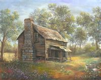 Save A Fortune With These Interior Design Tips Farm Paintings, Bob Ross Paintings, Landscape Paintings, Landscapes, Pictures To Paint, Old Pictures, Old Cabins, Barn Art, Art Design