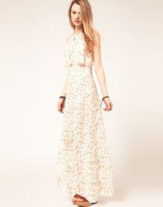 Free People Floral Side Split Maxi Dress  £145.00