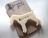 Not everyones cup of tea... but I am super in love with my cream Hence Dog brooch