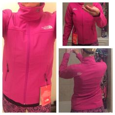 ⚡️SALEThe North Face Wind Breaker NWT Beautiful pink razzle color.  Brand new. Breathable water resistant and multipurpose!  TNFAPEX universal Wind-resistant jacket with updated, sleek fit TNF™ Apex Universal fabric wind permeability rated at 5-10 CFM (0 CFM is 100% windproof) with fleece backer Water-repellent finish Media compatible Reverse-coil front zip Zip hand pockets Snap neck collar closure Hem cinch-cord - North Face Jackets & Coats