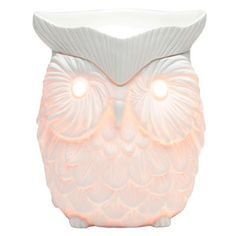 Whoo whoo! Whoot is a piece of art, a finely detailed warmer that glows golden when on. Flip the switch and watch this symbol of wisdom come to life.