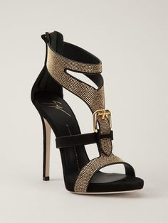Giuseppe Zanotti Design Studded Sandals - Hirshleifers - Farfetch.com
