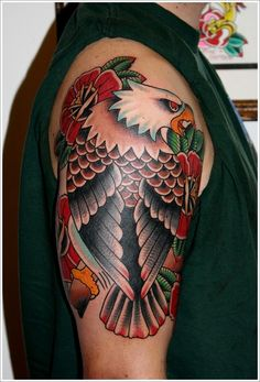 Eagle tattoo designs are always popular and eye-catching because it is a symbol of strength and superiority, there are many eagle tattoos such as bald eagle tattoo, flying eagle. Unique Tattoo Designs, Tattoo Designs And Meanings, Tattoo Sleeve Designs, Sleeve Tattoos, Creative Tattoos, Unique Tattoos, Tattoos For Women Small, Tattoos For Guys, Small Tattoos
