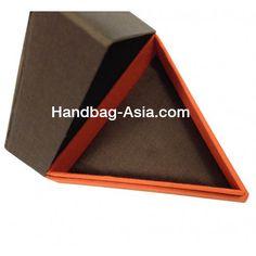 Modern triangle shaped silk box
