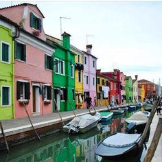 Burano is an island off Venice, Italy, known for its exquisite lacework and bright colorful buildings. Have you been?