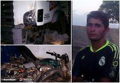 Moto colide com caminhão da Schincariol e deixa vítima fatal na PE-320 | S1 Noticias
