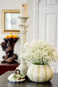Tuesday Tidbits20 - Back Porch Musings This and That in fashion for 70's, flowers and a mantel.
