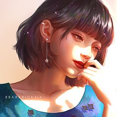 Artist: Karmen Loh Ins: Cartoon Kunst, Cartoon Art, Kawaii Anime Girl, Anime Art Girl, Fantasy Kunst, Fantasy Art, Pretty Art, Cute Art, Arte Indie