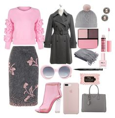 """Cold Monday"" by tonialmond ❤ liked on Polyvore featuring WithChic, Prada, Quay, Ted Baker, Surratt, Charlotte Russe, Carolee, NYX, MaxMara and ncLA"
