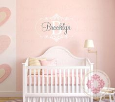 Personalized Baby Nursery Name Vinyl Wall Decal By Wallartsy 32 00 Boy Pinterest Personalised Decals And
