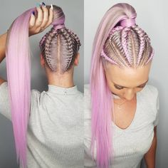 Thankyou next 💁♀️ I am SO ENVIOUS of this colour! 😍😍 using LILAC! Website restocked guys and there wont be another restock for 4 weeks so… Box Braids Hairstyles, Trendy Hairstyles, Cornrow Hairstyles White, Teenage Hairstyles, Hairstyles 2018, African Hairstyles, Hairstyle Ideas, Rave Hair, Curly Hair Styles