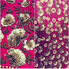 Gorgeous karigari work 💕 - email us to enquire x Zardozi Embroidery, Pearl Embroidery, Hand Work Embroidery, Indian Embroidery, Embroidery Fashion, Beaded Embroidery, Embroidery Patterns, Print Patterns, Maggam Work Designs