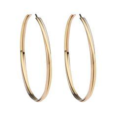 Trinity hoop earrings