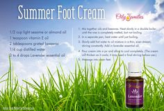 Summer Foot Cream DIY recipe - #youngliving #oilyfamilies Can relief from dry, cracked heels for summer sandal ready feet!