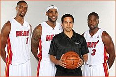 "Spoelstra has been coaching for the last couple of years from in between the proverbial rock and hard place.  If his team wins, the Media says ""…he has too much talent!"", but if his team looses the Media says, ""…he doesn't know what to do with all that talent!""."