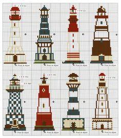 Lighthouses cross stitch