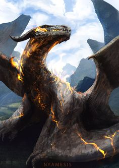 dragon by Nyamesiss.deviantart.com on @deviantART