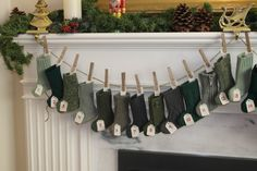 Christmas Advent Calendar Greens Darks and by TheMaskedOwlDesigns