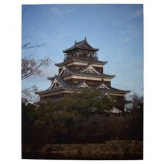 #beauty - #Japanese Castle (Hiroshima Castle) Jigsaw Puzzle