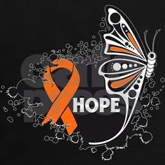 Inspire Hope with this beautiful, unique Hope Butterfly Multiple Sclerosis awareness shirts, apparel and gifts featuring a cool splatter design with an awareness ribbon by HopeDreamsDesigns.Com