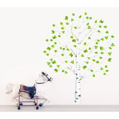 Muursticker berkenboom 2m -Kokkie