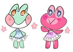 auroramori: cute frogs