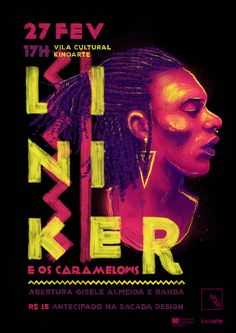 Poster for the show of the Brazilian singer Liniker. - Digital art -