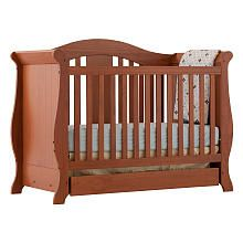 Stork Craft Vittoria 3 in 1 Fixed Side Convertible Crib - Oak Babies are us