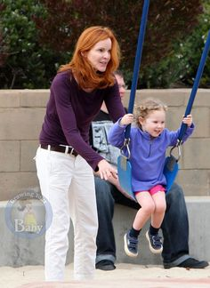 Marcia Cross and her daughter Savannah Emergency C Section, Marcia Cross, Fraternal Twins, Fluffy Sweater, She Girl, Savannah Chat, Give It To Me, Breast, Daughter