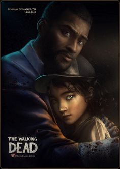 Awe-inspiring fanart of Clementine and Lee #the #walking #dead
