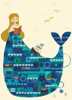 Reminds me of Mary Blair's work! But I don't know who made this lovely piece.