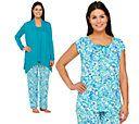 Carole Hochman Ultra Jersey Spring Bloom 4 PC Pajama Set — QVC.com