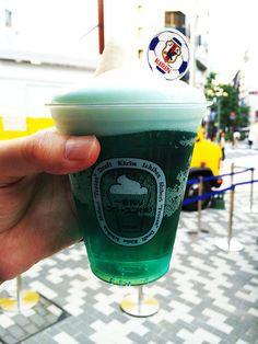 Japan's Kirin Beer Garden is Serving Blue Beer for the World Cup #worldcup2014 #worldcup trendhunter.com