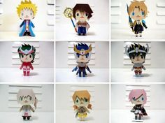 A Lot Of Paper Toys From Animes and Mangás - by Smile Robinson - == -  Visit Smile Robinson`s page at DeviantArt and you will find more them hundred very original paper toys in Chibi style of characters from Animes and Mangás.